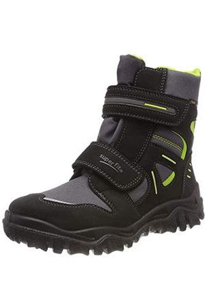 Superfit Boys' Husky Snow Boots, (Schwarz/grün 03 03)