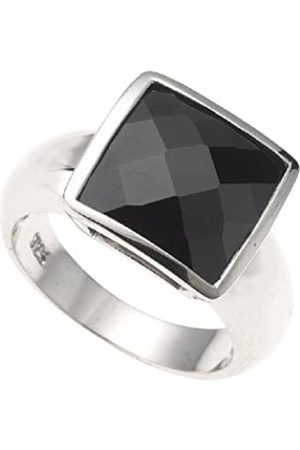 Zeeme Ladies' Ring with Black Cubic Zirconia EU Size 56 mm 342270022-056