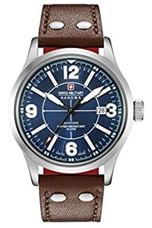 Swiss Military Mens Analogue Classic Quartz Watch with Leather Strap 06-4280.04.003.10