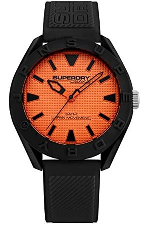 Superdry Mens Analogue Quartz Watch with Silicone Strap SYG243BO