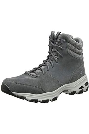 Skechers Women's D'Lites-CHILL Flurry Ankle Boots, (Charcoal Suede/Knit Ccl)