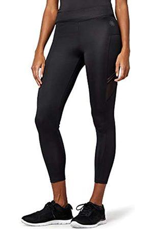 AURIQUE Amazon Brand - Women's 7/8 Lace Panel Sports Trousers, 12
