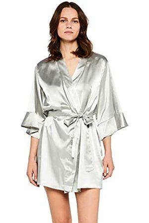Iris & Lilly Satin Ruffle Midi Kimono, )