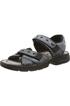 Rieker Men's 26175-15 Closed Toe Sandals, (Ozean/Denim/Schwarz 15)