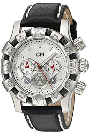 Carlo Monti Arezzo Men's Quartz Watch with Dial Chronograph Display and Leather Strap CM122-112