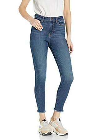 Goodthreads High-rise Skinny Jeans Cropped Fray Resin Dark Fade Wash