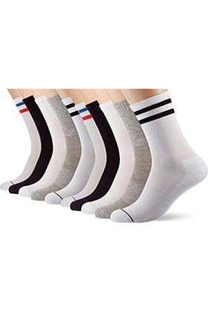 Urban classics Unisex_Adult Socken Sporty Socks 10-Pack, Blk/Wht/Gry+wht/NVY/Rd+wht/Blk
