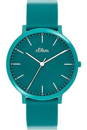 s.Oliver Unisex Adult Analogue Quartz Watch with Silicone Strap SO-3949-PQ