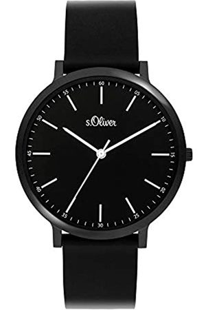 s.Oliver Unisex Adult Analogue Quartz Watch with Silicone Strap SO-3948-PQ