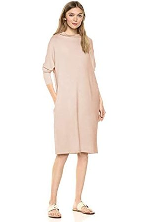 Daily Ritual Supersoft Terry Modern Funnel-Neck Dress Casual
