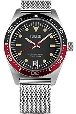 Fonderia Mens Analogue Quartz Watch with Stainless Steel Strap P-8A013UNR