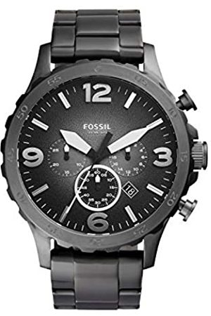 Fossil Nate Chronograph Smoke Stainless Steel Watch – Analogue Men's Watch with Quartz Movements