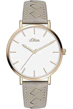 s.Oliver Womens Analogue Quartz Watch with Leather Strap SO-3843-LQ