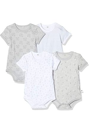 Pippi Unisex Baby Bluse Body SS AO-Printed 4-Pack