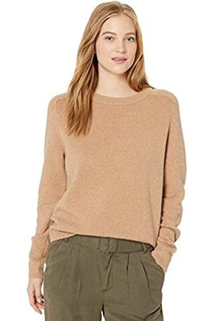 Daily Ritual Cozy Boucle Crewneck Pullover Sweater Camel Heather