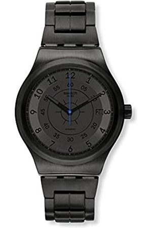 Swatch Mens Analogue Automatic Watch with Stainless Steel Strap YIB401G