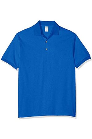 GILDAN Men's DryBlend Adult Jersey Polo Shirt, (Royal)