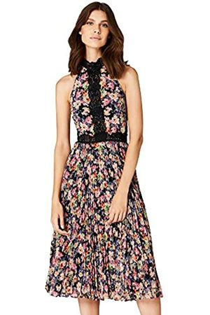 TRUTH & FABLE Amazon Brand - Women's Floral Maxi Halter Dress, 10