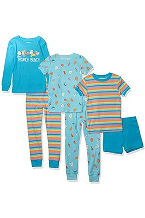 Spotted Zebra 6-Piece Snug-Fit Cotton Pajama Set Brunch Bunch