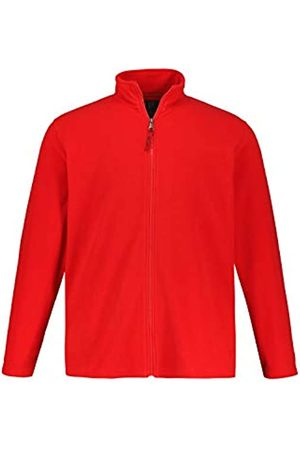 JP 1880 Men's Big & Tall Zip Front Fleece Jacket Salsa XXX-Large 705552 64-3XL