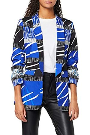 Liquorish Women's Blue Zebra Blazer Jacket