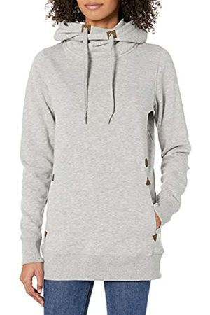 Volcom Women's Tower Pullover Heather Fleece Hooded Baselayer Sweatshirt - Gray - Small