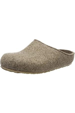 Haflinger Unisex Adults' Grizzly Michl Open Back Slippers, (Torf 550)