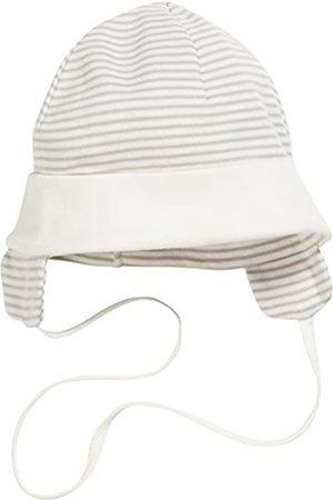 Schnizler Unisex Baby Bindemütze, Erstlingsmütze mit Ohrenschutz, Oeko-Tex Standard 100 Hat, (Natur)