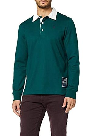 Izod Men's Solid Longsleeve Rugby Polo Shirt