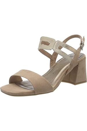 MARCO TOZZI Women's 2-2-28325-24 Ankle Strap Sandals, (Nude Comb 478)