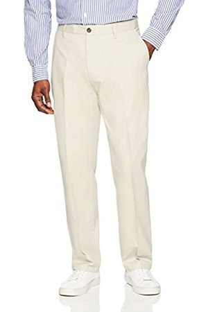 Amazon Classic-Fit Wrinkle-Resistant Flat-Front Chino Pant (Stone)