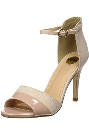 Buffalo Shoes 312339 IMI SUEDE PAT PU, Women's Ankle Strap Sandals, (Nude 01)