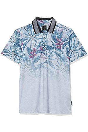 Burton Men's Short Sleeve Floral Print Regular Fit Polo Shirt