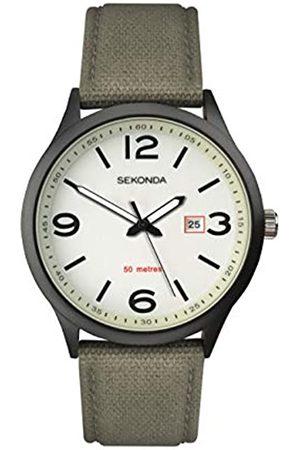 Sekonda Mens Analogue Classic Quartz Watch with Nylon Strap 1507.27