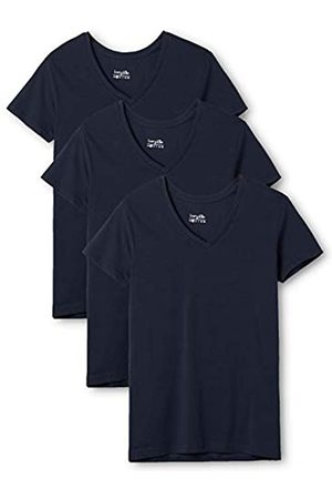 Berydale 3-Pack Women's T-Shirt with V-Neck in various colours, -Blau (Dunkelblau)