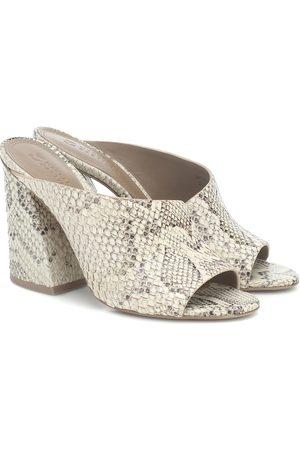 Mercedes Castillo Izar snake-effect leather sandals