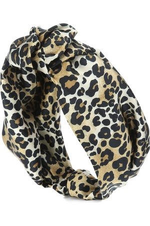 Jennifer Behr Leopard stretch-silk headband