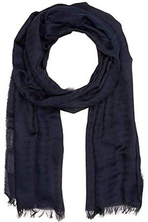 Armani Exchange Men's The Jacquard Cotton Scarf, (Notte-Dark 02836)