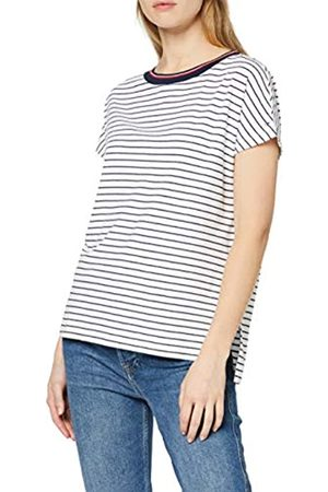 Tommy Hilfiger Women's Stripe Knit Long Sleeve Crew Neck T-Shirt