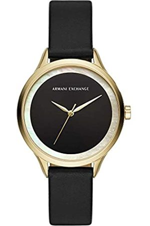 Armani Quartz Watch with Real Leather Strap AX5611