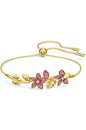 Swarovski Women's Pink Gold-tone plated Tropical Flower Bangle 5521058