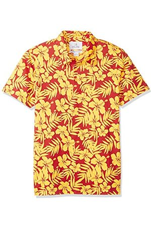 28 Palms Standard-Fit Hawaiian Performance Pique Polo Shirt Crimson/ Floral