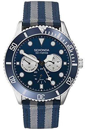 Sekonda Mens Multi dial Quartz Watch with Nylon Strap 1628