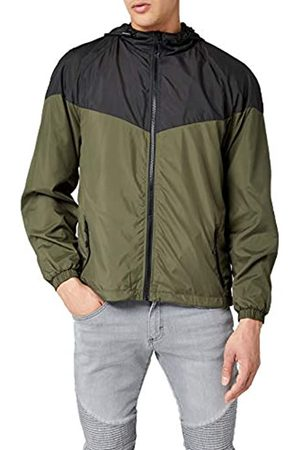 Urban classics Men's 2-Tone Tech Windrunner Jacket, Multicolour ( /Dark Olive 01338)