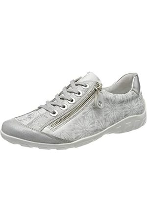 Remonte Women's R3435 Low-Top Sneakers, (Ice/Weiss/Silber/Argento 80)