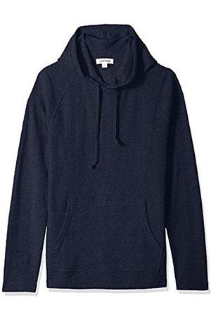Goodthreads Men's Long-sleeve Slub Thermal Pullover Hoodie T-Shirt, (navy)