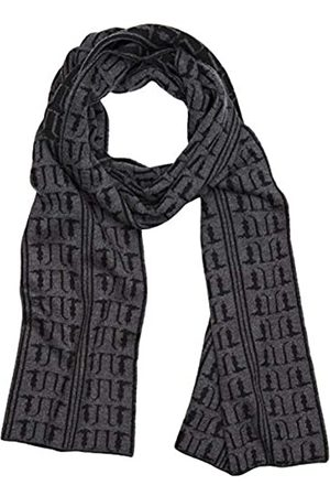 Trussardi Jeans Men's Knit Scarfjacquard Monogram Mi Scarf