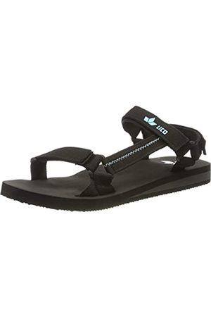 LICO Unisex Adults' Karibik V T-Bar Sandals, (Schwarz/Türkis Schwarz/Türkis)