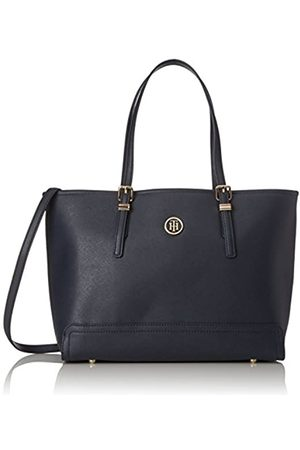 Tommy Hilfiger Womens Honey Med Tote Canvas and Beach Tote Bag (Tommy Navy)