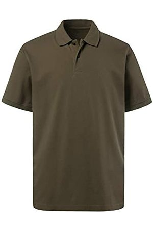 JP 1880 Men's Big & Tall Classic Cotton Pique Polo Shirt Khaki XXX-Large 702560 44-3XL